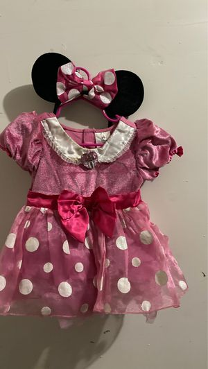 Minnie Mouse Halloween costume wi to 2 sets of ears for Sale in Las Vegas, NV