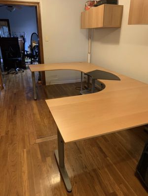Study IKEA desk 2 in one detachable for Sale in New York, NY