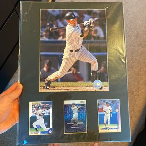 Derek Jeter Picture With Baseball Cards for Sale in Renton, WA