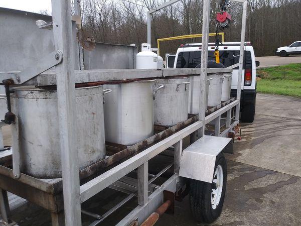 6 pot and burner crawfish rig