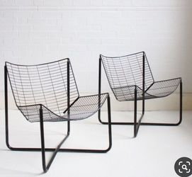 Jarpen Vintage Reproduction IKEA Raane Black Wire Chairs for Sale in Boring,  OR