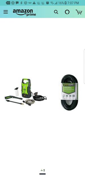 Greenworks 1600 PSI 13 Amp 1.2 GPM Pressure Washer GPW1602 with 50-Foot Indoor & Outdoor Extension Cord ECOA010 for Sale in City of Industry, CA