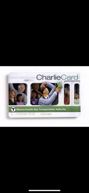 Boston MBTA Charlie card monthly pass for Sale in Cambridge, MA