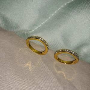 Set 2 Piece 18 K Gold Plated Wedding Ring, Size 6. for Sale in Dallas, TX