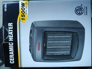 Andily Space Electric Ceramic Heater With Thermostat. 1500 Watt for Sale in Edgewood, WA