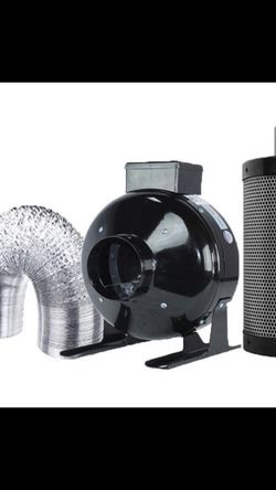 "TopoGrow 4"" Inline Fan Carbon Air FilterCombo (Fan+Filter+Duct+Clip) for Grow Tent and Hydroponic (4"") for Sale in La Habra,  CA"