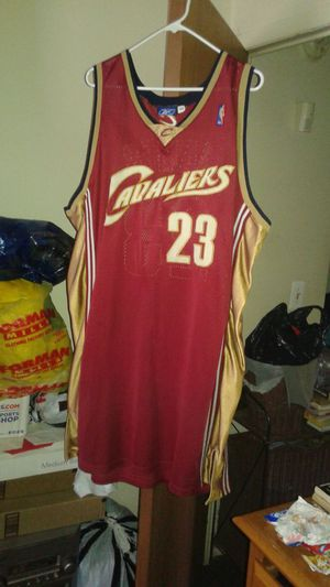 Cleveland Cavaliers real authentic LeBron James first NBA from high school str8 to the pros throwbak the king Reebok Jersey for Sale in Detroit, MI