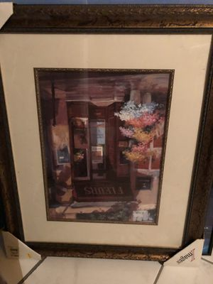 Beautiful Picture in gold and wood frame for Sale in Cedar Hill, TX