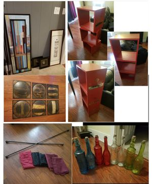 Offers or 80 all home decor decorations wall art book shelf stand wine crates for Sale in Long Beach, CA
