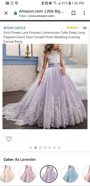 Size 8-10 juniors Flower girl dress beautiful sale cheap price for Sale in Orland Park, IL