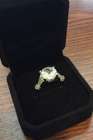 NEW SIZE 7 LAB SIMULATED DIAMOND RING SILVER PLATED for Sale in Cleveland, OH