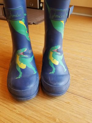 Joules welly rain boots dino size 11 for Sale in Sammamish, WA