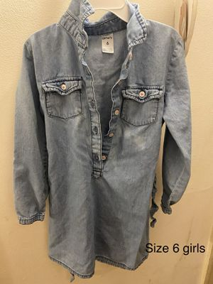 Carter's girls size 6 jean dress for Sale in Mundelein, IL