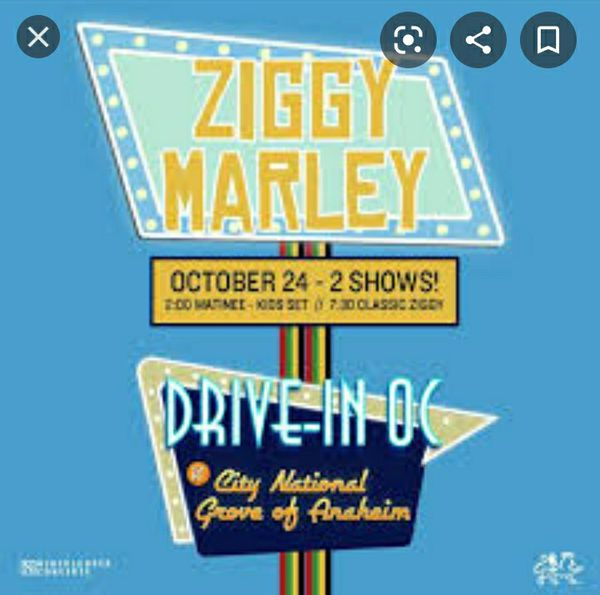 Ziggy Marley at Grove of Anaheim Car Concert Pass!