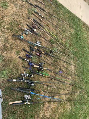 Assorted fishing poles and reels for Sale in Belmont, CA