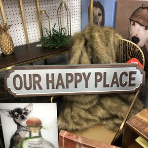 """Brand New Metal Our Happy Place Sign (Dimensions: 37""""x8"""") for Sale in North Las Vegas, NV"""