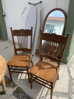 Rustic antique dining table chairs for Sale in Los Angeles, CA