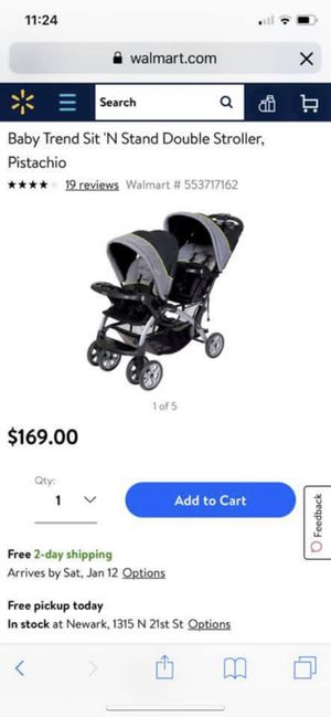 Baby trend double stroller for Sale in Saint LOUISVL, OH