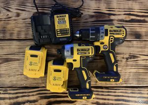 Dewalt 20v Brushless Drill/Impact with 2 2ah Batteries And Charger for Sale in Indianapolis, IN