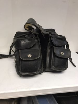 The leather works motorcycle luggage/paniers- nice condition Indian heads on the buttons for Sale in Glenview, IL