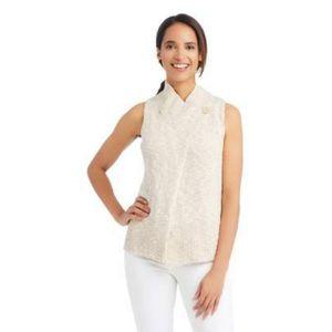 J. McLaughlin Sleeveless Cotton Vest Beige NWT Large for Sale in Houston, TX