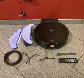 Strata Home STITCH Wireless Smart Robotic Vacuum w/Mop, Black for Sale in Mukilteo,  WA