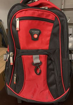 Beautiful red camping backpack with wheels Only used one time for Sale in Wildomar,  CA