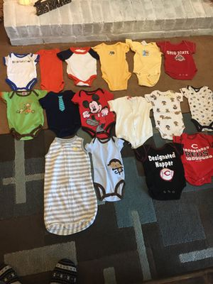 Kids clothes size NB and 0-4 months onesies and sleep sack OSU and Reds for Sale in Westerville, OH
