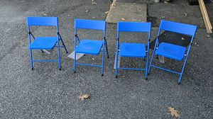 Blue kids folding chairs for Sale in Virginia Beach, VA