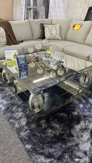 no se requiere crédito New Mirrored Coffee Table FY for Sale in Euless, TX