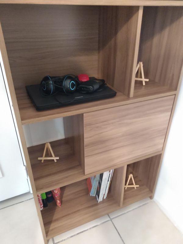 New Ikea shelve with closets.