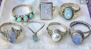 Vintage Retro Rings Boho Hippie Silver Rings for Sale in Wichita, KS