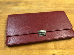 Balenciaga Red Leather Wallet Clutch for Sale in Palm Springs, CA