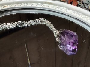 Handmade Jewelry Necklace with Amethyst charm. for Sale in La Mesa, CA