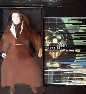 "Star Wars collectible 12"" Darth Vader Anakin Action Figure w/Book for Sale in Portland, OR"