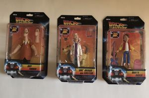 """Back to the Future 6"""" Scale Action Figure Marty Doc Biff - NECA- Fast Shipping for Sale in Portland, OR"""