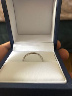 14kw diamond wedding band and silver men's wedding band for Sale in Chicago, IL