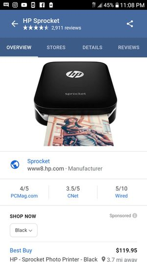Hp Sprocket Printer for Sale in Duluth, MN