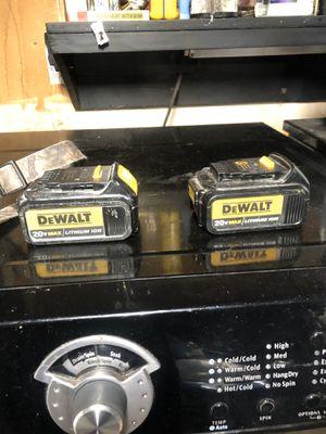Dewalt 3.0ah batteries for Sale in Elk Grove, CA