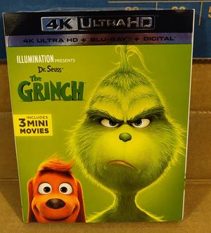 Illumination presents The Grinch 4K Ultra HD Blu-ray (No digital) for Sale in Los Angeles, CA
