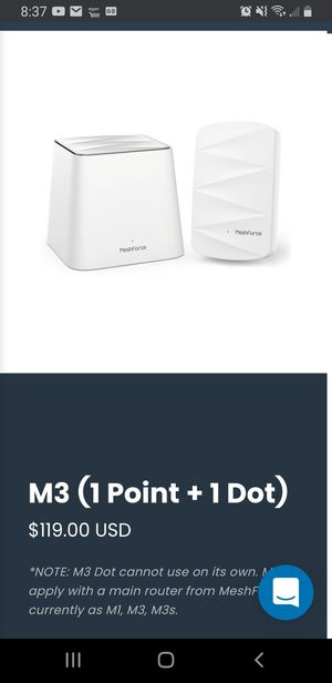 M3 wifi mesh router system for Sale in Natick, MA