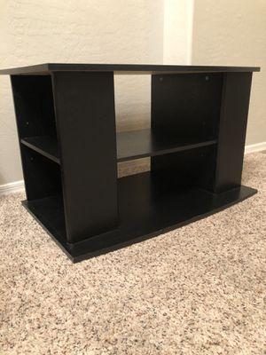 Open back Black Tv stand with 6 adjustable shelves for Sale in Gilbert, AZ