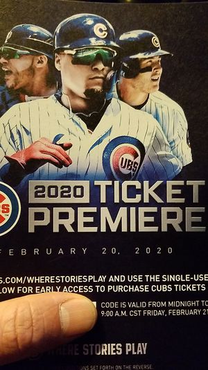 Early cubs tickets for Sale in Chicago, IL