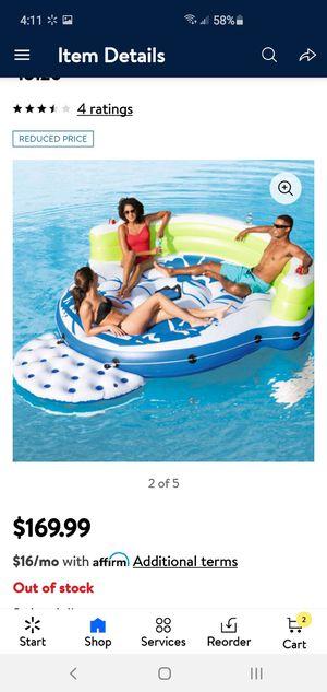 CoolerZ kick back lounge island..inflatable boat for Sale in Hemet, CA