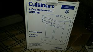 Cuisine 2-cup coffeemaker wcm112 for Sale in St. Louis, MO