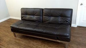 Brown Leather Futon for Sale in Mount Pleasant, SC