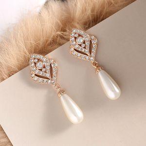 Korean style pearl diamond earrings for Sale in Pleasanton, CA