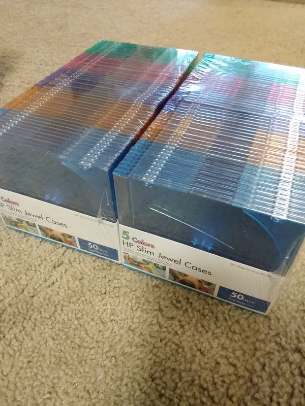 Slim jewel cases & DVD-R, DVD+R DL, DVD+R, CD-R, CD-RW