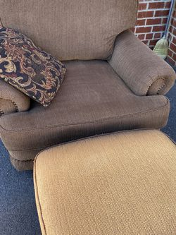 Upholstered Oversized Chair With Ottoman for Sale in Springfield,  VA