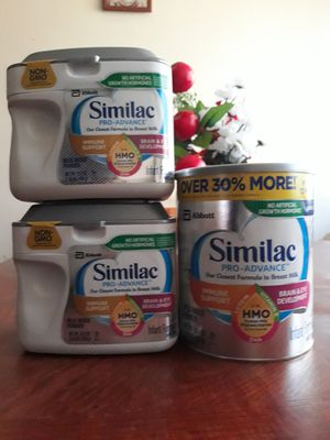 Similac pro advance 30.onz and 22.onz cans $70 for all for Sale in South Gate, CA